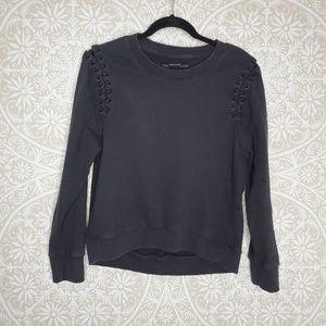 All Saints Faded Black Sweatshirt M 93H44